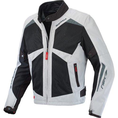Spidi Net 7 Men's Textile/vented Sports Bike Motorcycle Jacket - Grey/black / X-large