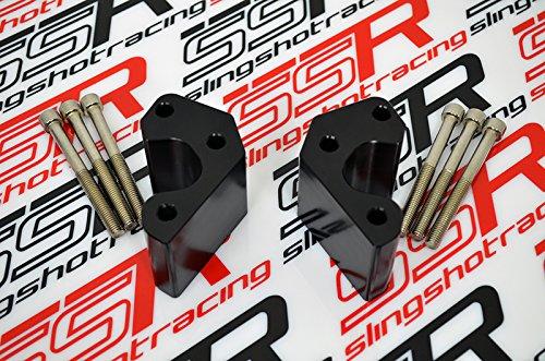 2008-2015 Kawasaki Concours 14 GTR1400 1400GTR Handlebar 2 Inch Bar Risers in SILVER ANODIZED
