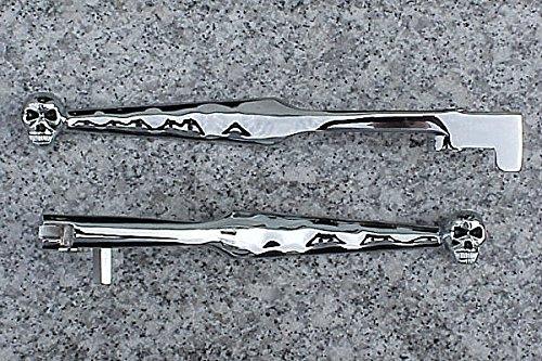 i5 Chrome Skull Brake Clutch Levers for Kawasaki Vulcan 500 800 900