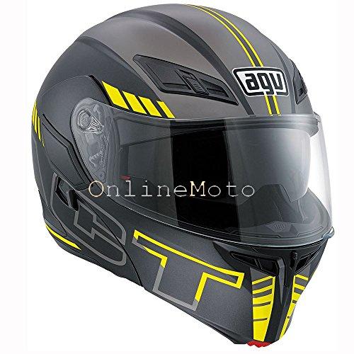 AGV Compact-St Seattle Matt Black Silver Yellow Motorcycle Helmet Size XL