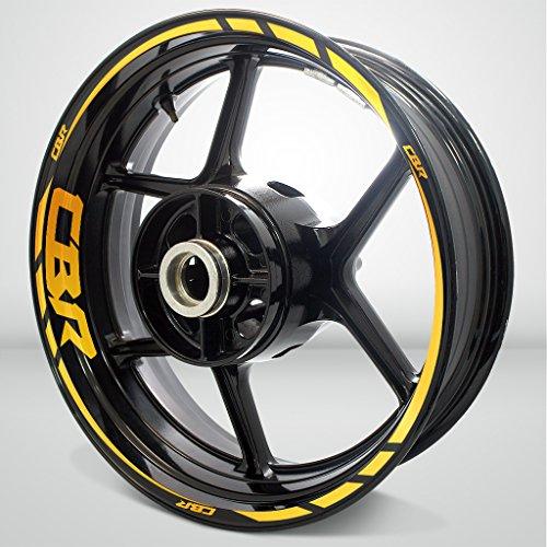 Honda CBR Reflective Yellow Motorcycle Rim Wheel Decal Accessory Sticker