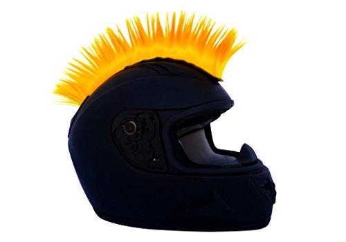 Yellow Motorcycle Mohawk Ski Snowboard Helmet Mohawk w Sticky Adhesive