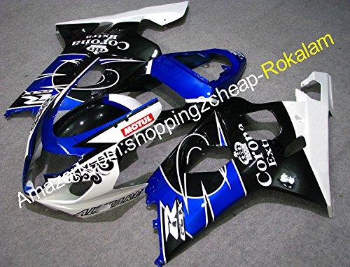 Hot SalesFor SUZUKI Fairing GSXR 600 750 2004 2005 K4 white black Blue Corona high grade motorcycle fairing Injection molding