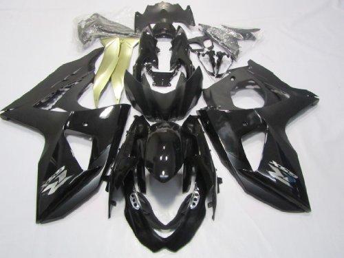 ZXMOTO Black Motorcycle ABS Bodywork fairing kit Painted With Graphic for 09 -10 Suzuki GSX-R 1000 2009 - 2010