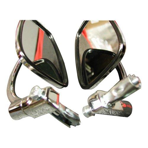 Commando Specialties MC-12041-2 Pair of Chrome Bar End Mirrors