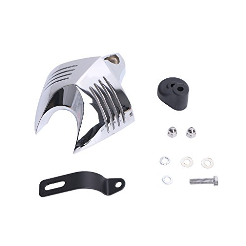 E-most Motorcycle Chrome Horn Cover Fits Harley Davidson Softail Dyna Electra Glide Road King