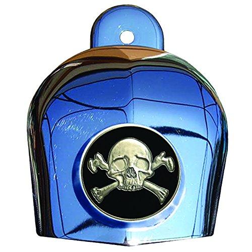 MotorDog69 Crossbones Harley Horn Cover Coin Mount Set…