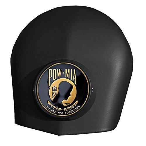 MotorDog69 POW-MIA Harley Black Horn Cover Coin Mount Set