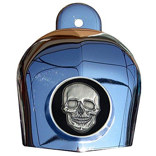 MotorDog69 Skull and Crossbones Harley Horn Cover Coin Mount Set… …
