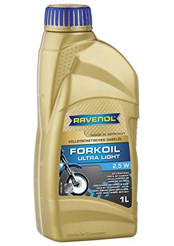 RAVENOL J1V1200-001 Shock and Fork Oil - Full Synthetic Ultra-Light 25W 1 Liter