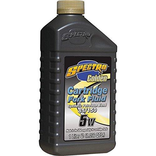 Spectro Golden Motorcycle Cartridge 5W Fork Oil 1 Quart