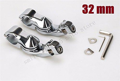 32mm engine guard footpegs Adjustable Highway Pegs Mount bracket For Harley motorcycle