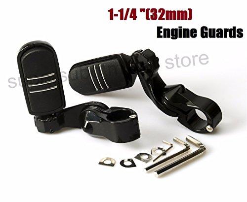 Engine guard footpegs Harley Highway Foot Pegs Motorcycle Honda 32mm 1-14 Black Short Adjustable