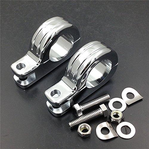 HK MOTO- 1 12 Engine Guard Footpeg P Clamps for Honda GL VT1100 VTX1300 1800 VLX600 Chromed