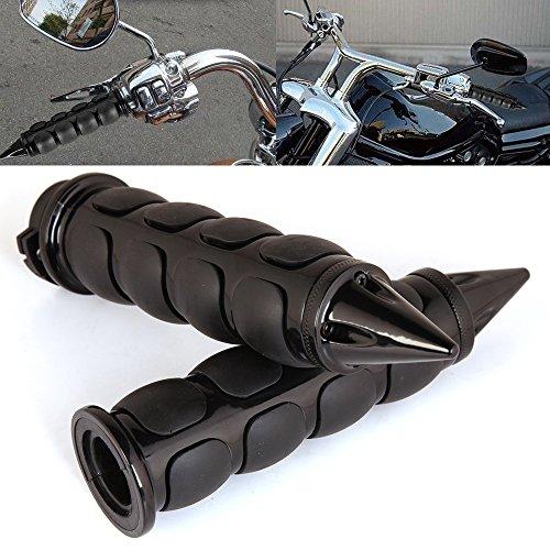 Pair of 1 Dual Black Motorcycle Bar End Hand Grips Handlebar for Cruisers Harley Honda Yamaha Suzuki