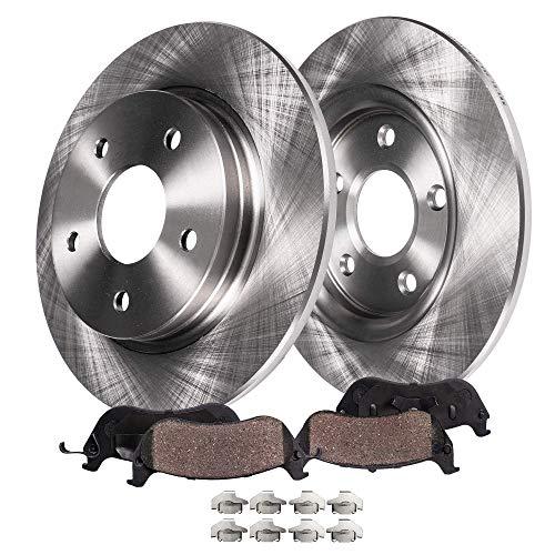 Detroit Axle - Pair 2 Rear Disc Brake Kit Rotors wCeramic Pads wHardware for 04-05 Century - 97-04 Regal - 00-05 ImpalaMonte Carlo - 99-04 Alero - 99-05 Grand AM - 97-03 Grand Prix