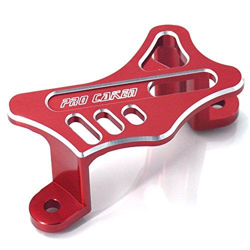 JFG RACING Red Rear Brake Caliper Cover Guard Protector For Honda CR125 CR250 CRF250R CRF250X CRF450R CRF450X CRF450RX 02-17