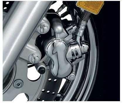 Kawasaki Vulcan 90015001600 Motorcycle Front Caliper Cover Chrome Dress-up Kit