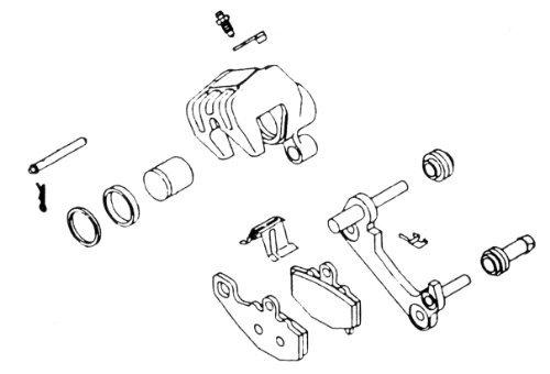 K&L Supply Brake Caliper Rebuild Kit 32-1155