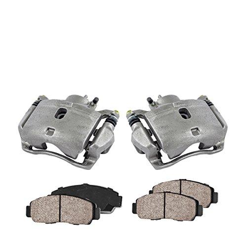 CCK11167 2 FRONT Premium Loaded OE Caliper Assembly Set  Quiet Low Dust Ceramic Brake Pads