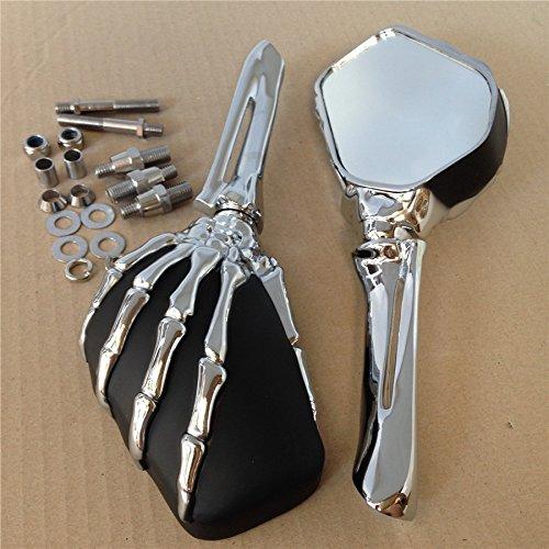Paw Skull Mirror For Yamaha Road Max Vstar 1100 1300 1600 1700 Warrior Virago Cd