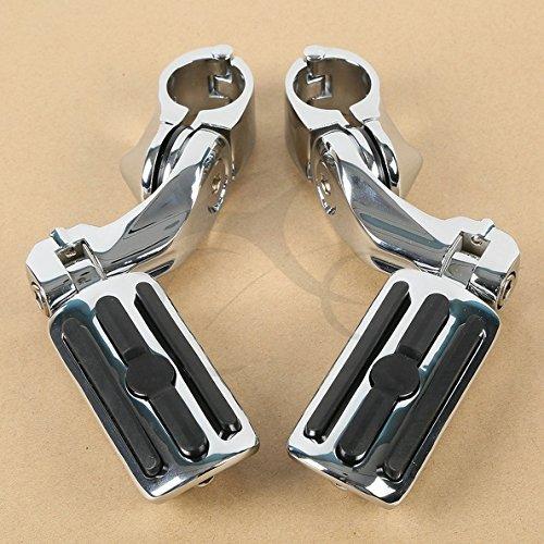 Tengchang Chrome 125 32cm Adjustable Highway Foot Pegs Footpeg For Harley-Davidson