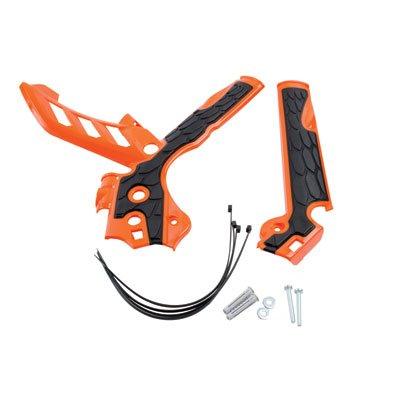 Acerbis X-Grip Frame Guards OrangeBlack for KTM 350 EXC-F 2014-2016