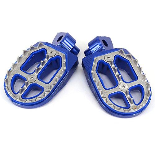 JFG RACING Billet MX Foot Pegs Rests Pedals For Yamaha YZ85 02-17 YZ125 250 99-17 YZ250F 01-17 YZ426F 00-02 YZ450F 03-17 YZ250FX 15-17 YZ450FX 16-17 WR250F WR400F WR426F WR450F 99-17