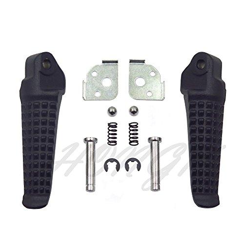 HongK- Motorcycle Rear Foot Peg Footrest for Honda CBR600F4 2003-2004 Matte Black