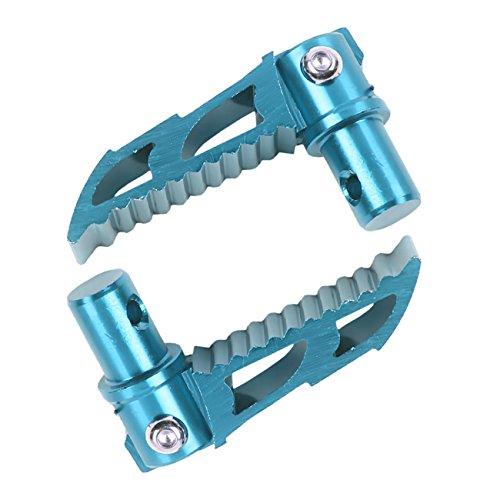 Sthus Blue Folding CNC Footpeg Mini 2 Stroke 43CC 47CC 49CC Pocket Dirt Bike Foot Peg