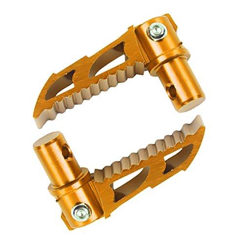 Sthus Gold Folding CNC Footpeg Mini 2 stroke 43CC 47CC 49CC Pocket Dirt Bike Foot Peg