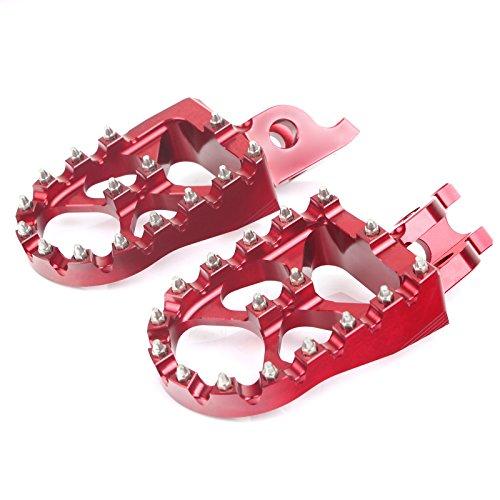TARAZON Billet MX Dirt Bike Foot Pegs Footpegs for Honda CRF 250 450 R X 2005-2016 CR125 CR250 CR500