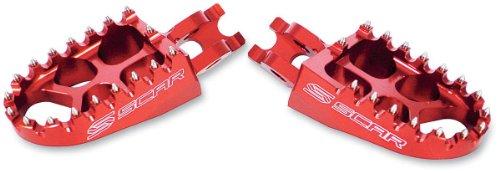 Scar Racing Evolution Racing Footpegs - Red 4512R