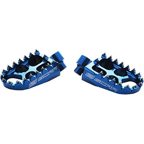 Scar Racing S5511B Evolution Racing Footpegs - Blue