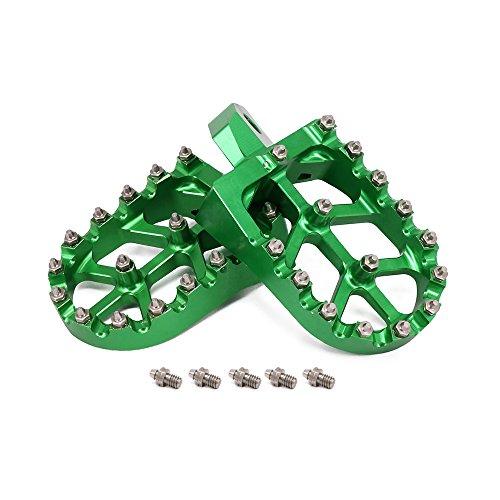 CNC Foot Pegs Footpegs Foot Rests Foot Pedals - Kawasaki KDX200 KDX220 95-03 KDX250 KX125 KX250 91-96 KX500 91-03