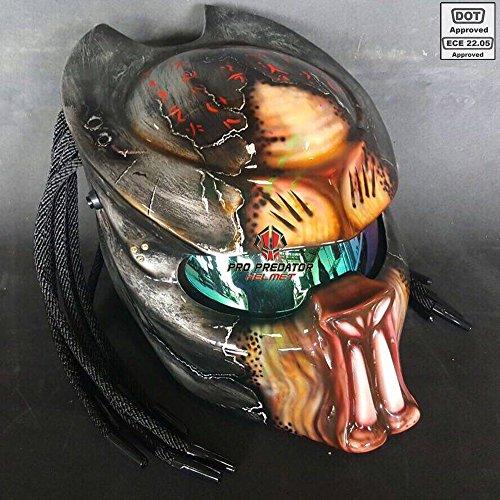 Pro Predator Motorcycle DOT Approved Helmet Berserker Style include Tri Laser SY29