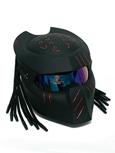 SY15 Custom Predator Motorcycle Dot Approved Helmet matt black