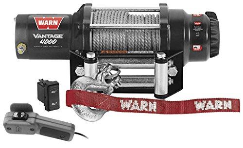 New Warn Vantage 4000 lb Winch With Model Specific Mounting Hardware - 2014-2016 Honda Pioneer 700 UTV