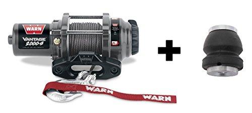 Warn Winch Vantage 2000 Synthetic Kit Includes Heavy Duty Winch Saver