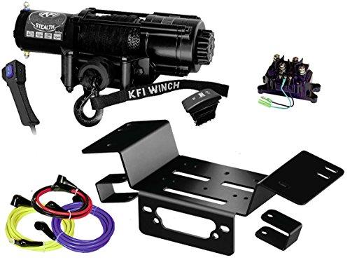 KFI Combo Kit - SE45w-R2 4500lbs Stealth Winch Mount Bracket - 2014-2018 Honda Pioneer SXS 700 SXS 700-4
