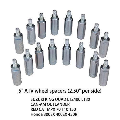 5 ATV Wheel SPACERS fit Suzuki King Quad LTZ400 LT80CAN-AM OutlanderRED CAT MPX 70 110 150Honda 300EX 400EX 450R 16PCS
