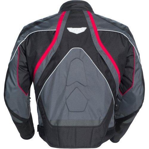 Cortech GX Sport 3 Mens Textile Armored Motorcycle Jacket Gun MetalBlack Medium