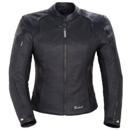 Cortech LNX Womens Leather Street Motorcycle Jacket - Flat Black  Medium