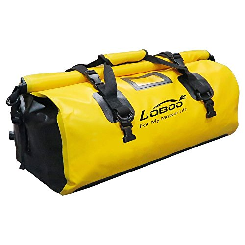 Loboo 66L Waterproof Bag Expedition Dry Duffel Bag Motorcycle Luggage For Travel Sports CyclingHikingCampingLargeYellow