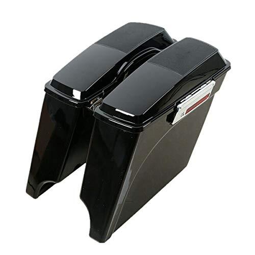 TCMT 5 Stretched Extended Hard Saddlebags 6X9 Speaker Lid Fits For 93-13 Harley Touring Model