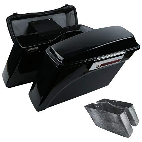 TCMT Hard Saddle bags Saddlebag Trunk  Lid Latch Keys Fits For Harley Davidson Road King Glide Softail DYNA 1994-2013