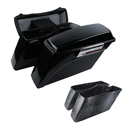 XFMT Vivid Black Hard Saddlebags Lid Latch Key Compatible with Harley Street Electra Glide 1994-2013