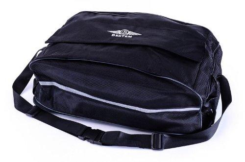 Bestem LGHD-Glide-DFL Black Tour-Pak Luggage Rack Duffel Bag for Harley Davidson Road KingGlide