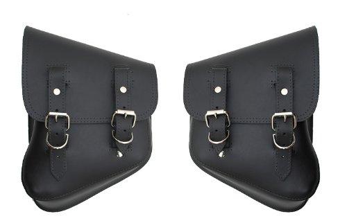 LaRosa Harley-Davidson Softail Rigid Black Leather Left Right Saddle Bag Set