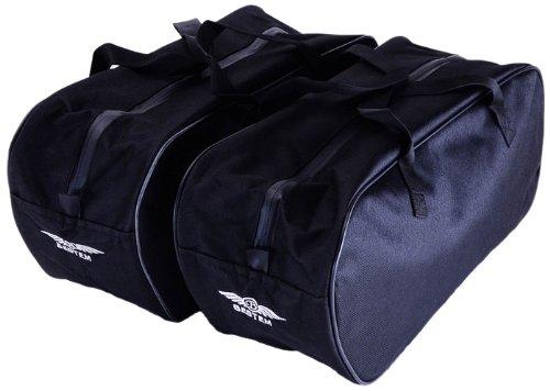 Bestem LGHD-RKCST-SDL Black Saddlebag Sideliners for Harley Davidson Road King Custom Pair